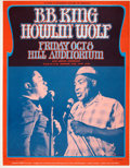 Music Memorabilia:Posters, B.B. King and Howlin' Wolf Hill Auditorium Concert Poster (Daystar,1971)....