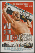 "Movie Posters:Science Fiction, War of the Colossal Beast (American International, 1958). One Sheet(27"" X 41""). Science Fiction.. ..."