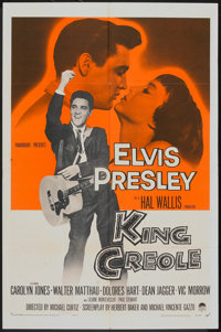 "King Creole (Paramount, 1958). One Sheet (27"" X 41""). Elvis Presley"