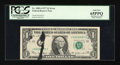 Error Notes:Ink Smears, Fr. 1909-J $1 1977 Federal Reserve Note. PCGS Gem New 65PPQ.. ...