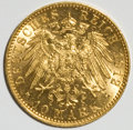 German States:Hamburg, German States: Hamburg. Free City gold 10 Mark 1912-J,...