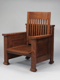 Furniture : American, FRANK LLOYD WRIGHT. An Oak Reclining Armchair, designed for theWilliam E. Martin House, Oak Park, Illinois, circa 1902. 28 ...