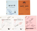 Movie/TV Memorabilia:Autographs and Signed Items, Assorted Cast-Signed Television Scripts.... (Total: 5 Items)