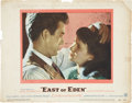 Movie/TV Memorabilia:Autographs and Signed Items, James Dean Signed East of Eden Lobby Card....