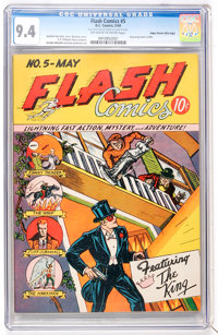 Flash Comics #5 Mile High pedigree (DC, 1940) CGC NM 9.4 Off-white to white pages