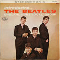 Music Memorabilia:Recordings, Introducing the Beatles Stereo Ad Back LP (Vee Jay 1062, 1964)...