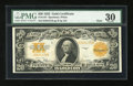 Large Size:Gold Certificates, Fr. 1187 $20 1922 Mule Gold Certificate PMG Very Fine 30....