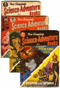 Pulps:Science Fiction, Two Complete Science-Adventure Books Group (Wings Publishing,1951-52) Condition: Average VG.... (Total: 4 Items)