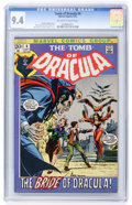 Bronze Age (1970-1979):Horror, Tomb of Dracula #4 (Marvel, 1972) CGC NM 9.4 Off-white to whitepages....