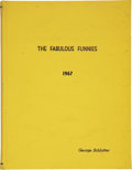 Movie/TV Memorabilia:Memorabilia, George Schlatter's The Fabulous Funnies Script....