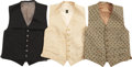 Movie/TV Memorabilia:Costumes, Ernie Kovacs' Vests.... (Total: 3 Items)