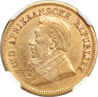 South Africa: Republic gold 1/2 Pond 1892