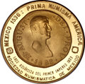 """Mexico, Mexico: Mexican Numismatic Society gold """"Coins on Medals"""" # 9,1979,..."""