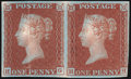 Stamps, 1841, 1d Plate 11on Dickinson Experimental Silk Thread Paper (S.G. 16),...