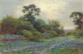 Paintings, ROBERT WILLIAM WOOD (American, 1889-1979). Bluebonnets, 1933. Oil on canvas. 20 x 30 inches (50.8 x 76.2 cm). Signed and...
