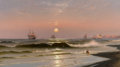 American:Marine, The Hon. Paul H. Buchanan, Jr. Collection. WILLIAM WILSON COWELL(American, 1819-1898). Incoming Tide, 1877. Oil on ca...