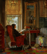 The Hon. Paul H. Buchanan, Jr. Collection  EDWARD LAMSON HENRY (American, 1841-1919) Totally Absorbed, 18