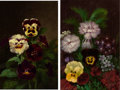 American:Still Life, The Hon. Paul H. Buchanan, Jr. Collection. JOHN WILLIAMSON(Scottish/American, 1826-1885). Flower paintings (apair)...