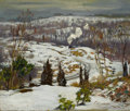 American:Impressionism, The Hon. Paul H. Buchanan, Jr. Collection. WILLIAM LESTER STEVENS(American, 1888-1969). Snow Scene with Train, 1920. ...