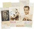 Movie/TV Memorabilia:Autographs and Signed Items, Assorted Vintage Actor Autographs.... (Total: 17 Items)