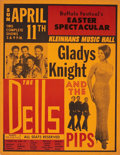 Music Memorabilia:Posters, Gladys Knight & the Pips/The Dells Easter Spectacular FestivalPoster (1965)....