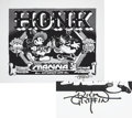 Music Memorabilia:Posters, Honk Orange County Fairgrounds Pavillion Concert Poster, Signed byRick Griffin (1969)....