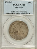 Seated Half Dollars: , 1855-O 50C Arrows XF45 PCGS. PCGS Population (35/294). NGC Census:(23/324). Mintage: 3,688,000. Numismedia Wsl. Price for ...
