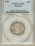 Coins of Hawaii: , 1883 25C Hawaii Quarter AU55 PCGS. PCGS Population (81/1114). NGCCensus: (41/685). Mintage: 500,000. (#10987)...