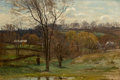 American:Impressionism, The Hon. Paul H. Buchanan, Jr. Collection. JOHN JOSEPH ENNEKING(American, 1841-1916). Late Afternoon Walk, 1878. Oil ...