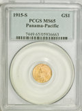 Commemorative Gold, 1915-S G$1 Panama-Pacific Gold Dollar MS65 PCGS....