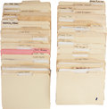 Movie/TV Memorabilia:Documents, Johnny Carson's Tonight Show Guest Dossier Archive....(Total: 72 Items)
