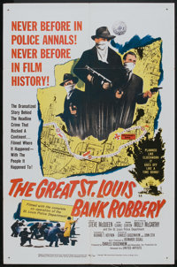 "The Great St. Louis Bank Robbery (United Artists, 1959). One Sheet (27"" X 41""). Crime"