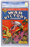 Golden Age (1938-1955):War, War Victory Adventures #2 (Harvey, 1943) CGC VF+ 8.5 Off-white towhite pages....