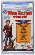 Golden Age (1938-1955):Miscellaneous, War Victory Adventures #1 (Harvey, 1942) CGC FN/VF 7.0 Off-white to white pages....
