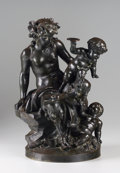 Bronze:European, The Hon. Paul H. Buchanan, Jr. Collection. After CLAUDE MICHELCLODION (French, 1738-1814). Satyr Family Group (Female S...