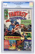 Silver Age (1956-1969):Superhero, Fantasy Masterpieces #3 (Marvel, 1966) CGC NM 9.4 Off-white pages....