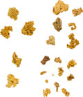 Mexico, Mexico: Twenty-one Small Gold Nuggets.... (Total: 21 nuggets)