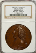 Betts Medals, (1863) William Pitt Medal, Betts-515, MS64 NGC. ...