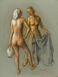 Fine Art - Painting, American:Modern  (1900 1949)  , ROBERT BRACKMAN (American, 1898-1980). Study of Two Women.Pastel on paper. 23-3/4 x 18 inches (60.3 x 45.7 cm). Signed ...