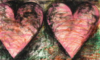 JIM DINE (American, b. 1935) Fortress of the Heart, 1982 Lithograph in colors 36 x 60 inches (91