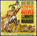 """Movie Posters:Action, The White Warrior (Warner Brothers, 1961). Six Sheet (81"""" X 81"""").Action.. ..."""