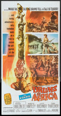 "Movie Posters:Adventure, Drums of Africa (MGM, 1963). Three Sheet (41"" X 81"") and Still (8""X 10""). Adventure.. ... (Total: 2 Items)"