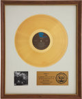 Music Memorabilia:Awards, The Who's Quadrophenia RIAA Gold Album Award....