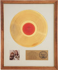 Music Memorabilia:Awards, Loggins and Messina RIAA Gold Album Award....