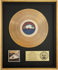 Music Memorabilia:Awards, Parliament Mothership Connection RIAA Gold Album Award....