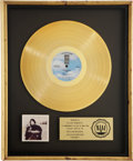 Music Memorabilia:Awards, Joni Mitchell Hejira RIAA Gold Album Award....