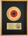 "Music Memorabilia:Awards, The Raiders ""Indian Reservation"" RIAA Gold Single Award...."