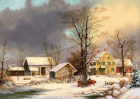 The Hon. Paul H. Buchanan, Jr. Collection  GEORGE HENRY DURRIE (American, 1820-1863) Winter in the Countr