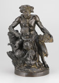 Bronze:European, The Hon. Paul H. Buchanan, Jr. Collection. After CLAUDE-MICHELCLODION (French, 1738-1814). Satyr Family Group (Male Sat...