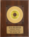"Music Memorabilia:Awards, Sly and the Family Stone ""Everyday People"" Gold Single Award...."